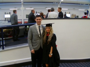 Josh and I at the Uni