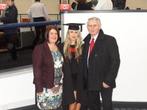 With my Mum and Dad
